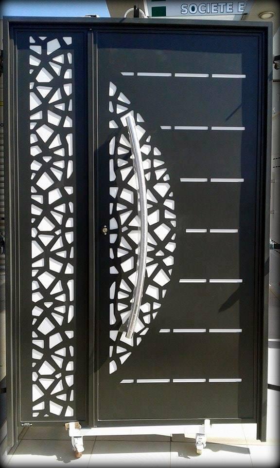 porte metallique. Black Bedroom Furniture Sets. Home Design Ideas